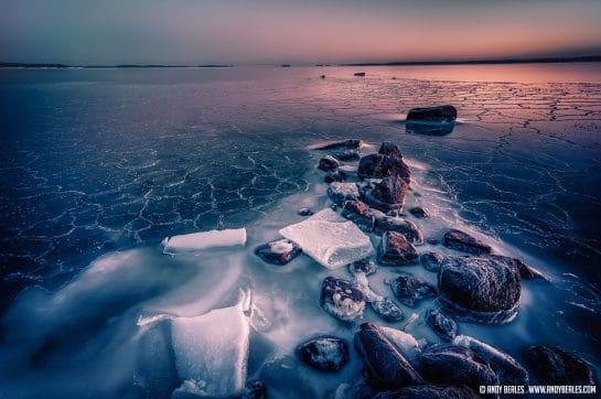 Finland Frozen Ocean Landscape
