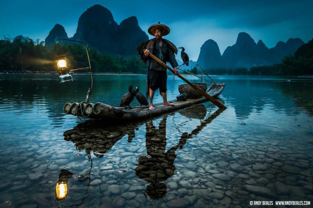 Guilin Cormorant Fishing on the Li River China